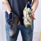年終大促韓版時尚雨鞋男潮洗車工防滑防水鞋廚房膠鞋冬季加絨棉短筒雨靴 小巨蛋之家