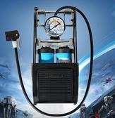 洛克兄弟腳踩打氣筒高壓便攜式籃球自行車電動車摩托車汽車充氣泵   圖拉斯3C百貨