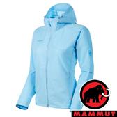【MAMMUT 長毛象】女 GRANITE SO防風軟殼連帽外套『自在藍』1011-00331 戶外 登山 保暖 禦寒 防風