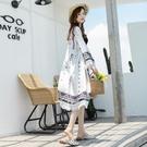 防曬衣女薄款2021新款夏季寬鬆中長款防曬服韓版海邊度假百搭外套 依凡卡時尚