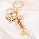 韓國可愛串珠鑰匙扣女創意小清新汽車鑰匙扣男情侶款包包鑰匙掛件 依凡卡時尚