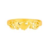 福到錢來-黃金戒指-蝙蝠造型戒指