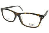 MONTBLANC 光學眼鏡 MB621F 056 (琥珀棕-黑) 經典百搭款 平光鏡框 #金橘眼鏡