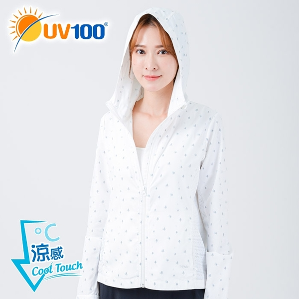UV100 防曬 抗UV-涼感連帽修身透氣外套