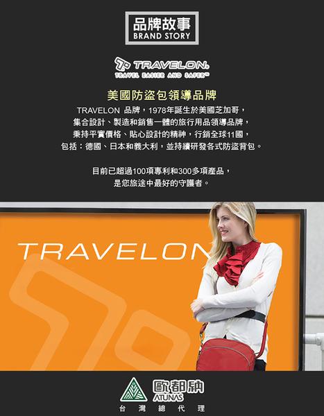 丹大戶外用品【TRAVELON】美國防盜包 隨身輕巧貼身登機證件包/護照包TL-42764 黑