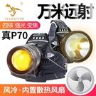 迅猛龍P70變焦強光頭燈超亮打獵疝氣燈夜獵釣魚頭戴式充電頭戴燈