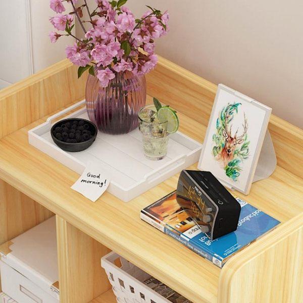 床頭櫃 收納櫃簡約現代實木色經濟型床邊小櫃子北歐臥室小桌子jy【快速出貨八折搶購】