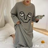 長袖睡裙女春秋季可外穿純棉2020新款公主風秋冬長款韓版寬鬆睡衣