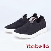 itabella.造型編織休閒鞋(8561-95黑色)