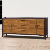 【時尚屋】振克雙色6尺餐櫃下座UZ6-343-3(餐櫃 收納櫃)