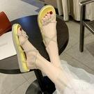 涼鞋女仙女風ins潮2020年新款夏天溫柔學生百搭水晶果凍平底鞋子XL4230【東京衣社】