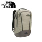 【The North Face 25L 17吋電腦背包 《灰棕/暗森林綠》】CWV9/出國/旅遊/休閒