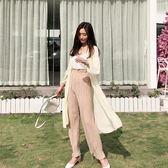 復古韓國chic風夏季輕薄款防曬衣透視慵懶繫帶純色雪紡開衫外套女禮物限時八九折