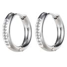 鈦鋼耳環 時尚設計個性簡約款鈦鋼流行耳環