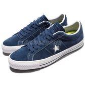Converse One Star Pro 藍 白 星星 麂皮 滑板鞋 休閒鞋 低筒 男鞋 【PUMP306】 149867C