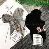 【KP】韓國 22-26cm 熊熊 水手服 可愛動物 灰 黑 短襪 成人襪 襪子 DTT1000013