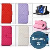 SAMSUNG 三星 S7 小羊皮皮套 插卡 側翻 手機套 手機殼 保護套 配件