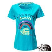 The North Face 女 FLASHDRY短袖T恤-青藍 【GO WILD】