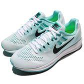 【五折特賣】Nike 慢跑鞋 Wmns Air Zoom Structure 20 水藍 綠 白 運動鞋 透氣避震 女鞋【PUMP306】 849577-101
