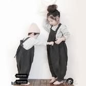 兒童背帶褲童裝男女童棉麻休閒褲百搭連身褲 町目家