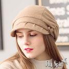 保暖帽子-保暖復古畫家羊毛呢淑女貝雷南瓜冬帽17AW-K004 FLY SPIN