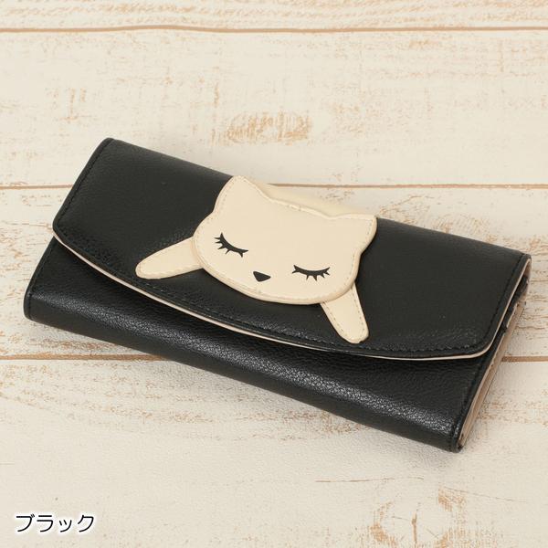 【Pooh Chan-噗將閉眼貓】慵懶貓手風琴式長夾【買就送純銀項鍊市價850】