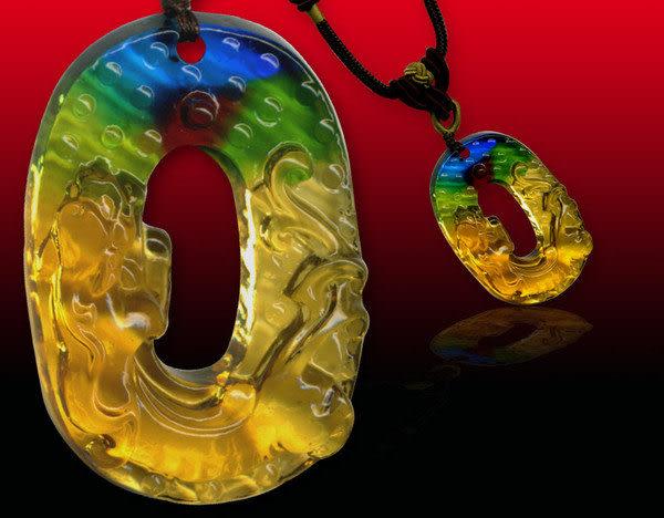 鹿港窯~居家開運水晶琉璃項鍊~螭龍 附精美包裝◆免運費送到家◆