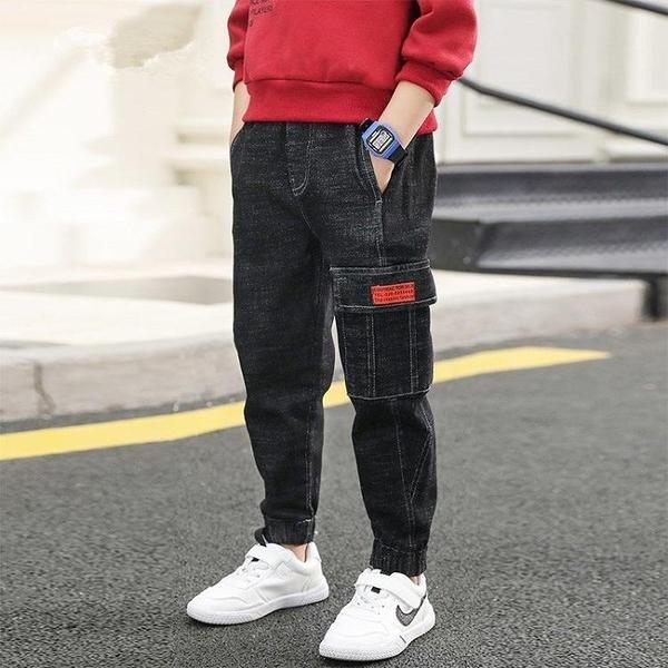男童牛仔褲中大童寬鬆休閒秋裝老爹褲2020新款韓版洋氣外穿潮長褲 小山好物