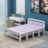 折疊床 可折疊床四折床單人雙人床木板床鐵架床簡易午休便攜硬床1.5米床【全館免運】