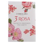 [即期良品]L'ERBOLARIO 蕾莉歐 玫瑰三重奏芳香包(抽屜用)-期效202012【美麗購】
