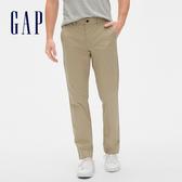 Gap男裝 簡約風格通勤款休閒長褲472757-卡其色