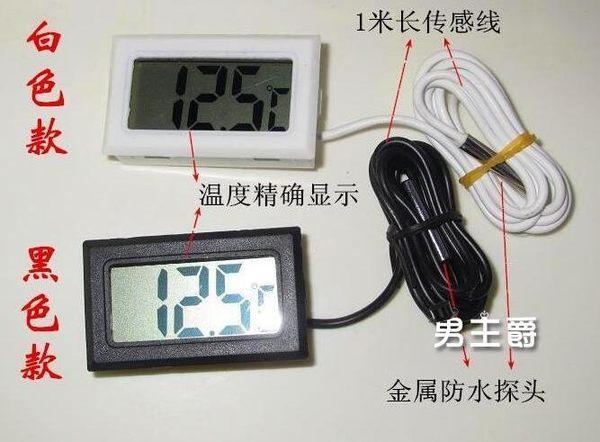 (百貨週年慶)溫度計電子溫度計數顯數字水溫計魚缸冰箱水族龜嬰兒測溫儀黑色 白色