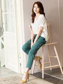 單一優惠價[H2O]涼爽舒適袖口打褶小泡袖中長版襯衫 - 紫/白/粉色 #9685018