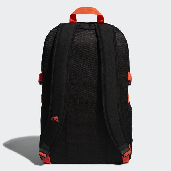 J- adidas POWER GRAPHIC BACKPACK 後背包 黑橘 運動 後背包 雙肩包 FM6905