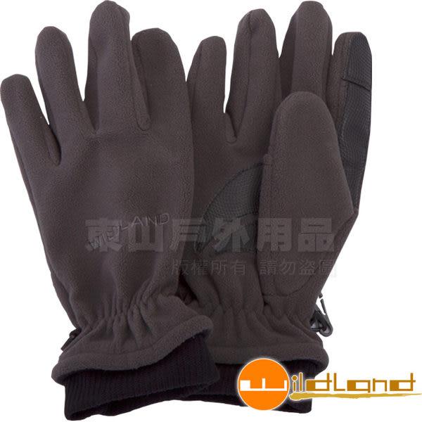 Wildland 荒野 92003-93深灰色 中性 防風保暖翻指手套 超細天鵝絨/手心止滑/機車手套