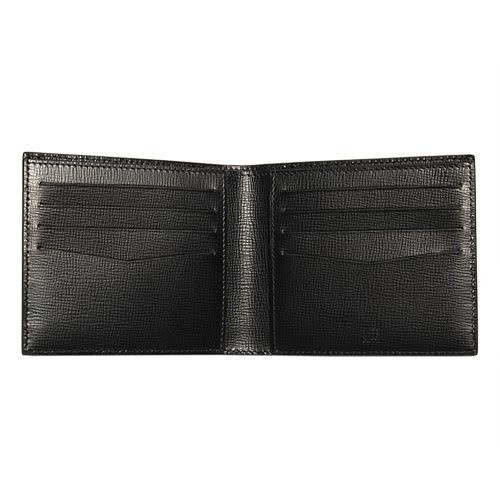 dunhill Bourdon經典LOGO防刮皮革短夾(黑色)257372