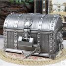 帶鎖首飾盒禮物盒歐式海盜珠寶箱道具禮品裝...