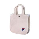 Fila 斜背包 2 Way Bag 米白 藍 男女款 兩用 手提包 帆布包 韓系 運動休閒 【PUMP306】 BMU3014WT