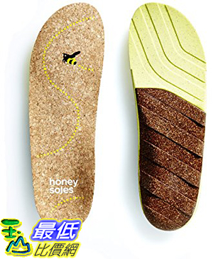 [美國直購] Honey Soles (SIZE C, Women s 8.5 - 10 USA) 軟木鞋墊 Natural Cork Shoe Insoles