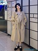 風衣外套 秋裝2021年新款韓版寬松風衣女秋季中長款小個子日系穿搭大衣外套 快速出貨