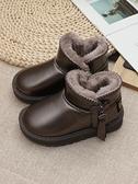 兒童靴子 兒童雪地靴2021冬季新款童鞋男童女童加絨短靴寶寶鞋厚棉百搭【快速出貨八折搶購】