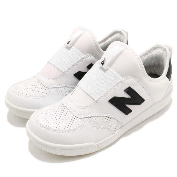New Balance 休閒鞋 300 NB N字鞋 白 黑 免綁鞋帶 襪套式 運動鞋 童鞋 中童鞋【PUMP306】 KS300WTPW