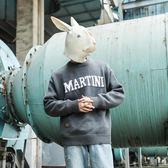 毛衣/針織衫 冬季圓領毛衣男士基礎內搭字母加厚套頭外套針織衫 High酷樂緹