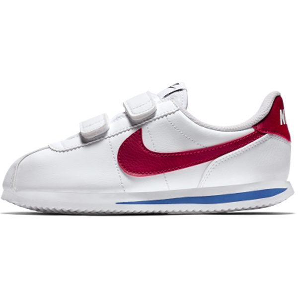 Nike Cortez Basic SL PSV 童鞋 中童 休閒 阿甘 皮革 魔鬼氈 白藍紅 【運動世界】 904767-103