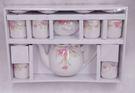 新娘花茶具組6入 女方嫁妝用品【皇家結婚用品百貨】