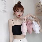女學生韓版小胸聚攏文胸薄款打底吊帶背心女內穿