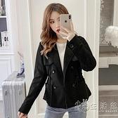 2020年秋季韓版復古寬鬆顯瘦長袖收腰百搭短款風衣鹽系薄款外套女 小時光生活館