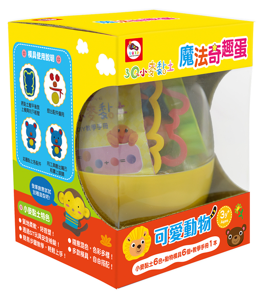 【Enjoy】3Q小麥黏土-魔法奇趣蛋:可愛動物 (6色) A10301