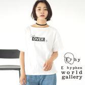 ❖ Hot item ❖ 素面簡約圓領字母T恤/上衣 - E hyphen world gallery