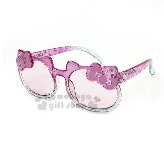 〔小禮堂〕Hello Kitty 兒童造型太陽眼鏡《粉綠.大臉》抗UV.遮陽.墨鏡 4901610-00519